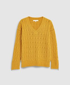 Ochre Cable Knit Jumper