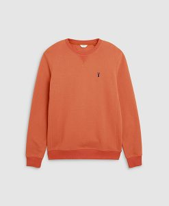 Orange Crew Neck Sweatshirt