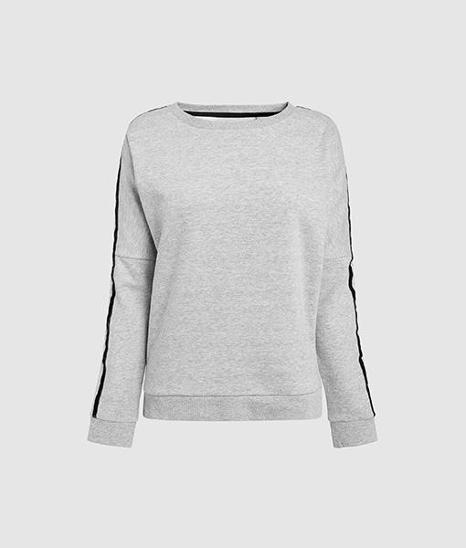 Velvet Trim Sweatshirt