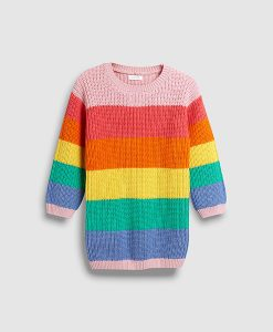 Pop colour girls knit