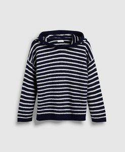 stripe navy jumper