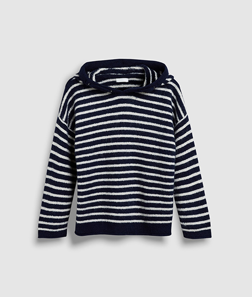 stripe navy jumper