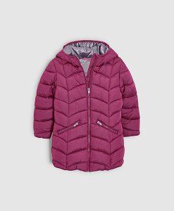 Pink Long Padded Jacket