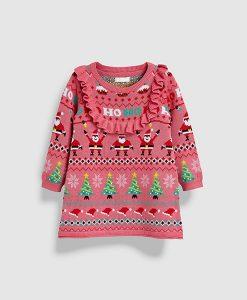 Christmas pink jumper dress