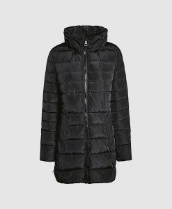 Black Long Padded Jacket