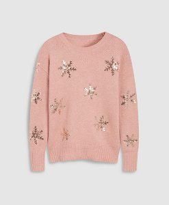 Pink Snowflake jumper