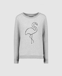 Flamingo grey sweat jumper