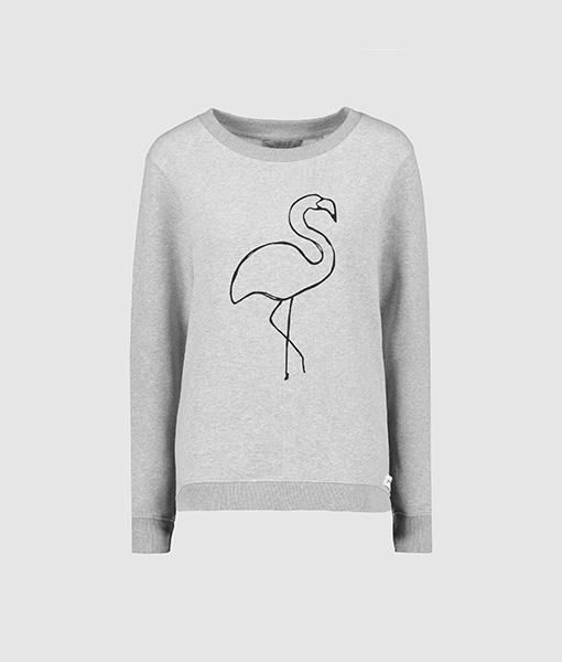 Flamingo grey sweat jumper