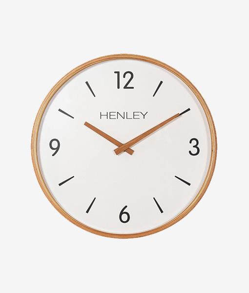 Henley Wall Clock Wood