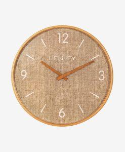 Henley Wall Clock Textured Weave