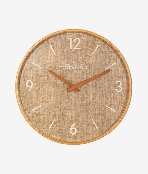 Henley Wall Clock Textured Weave