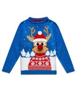 Rudolf Reindeer Festive jumper