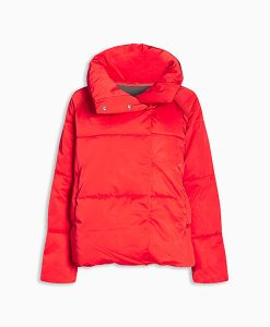 short red duvet coat