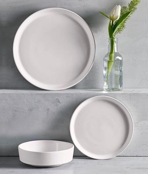 Flat White Dining Set