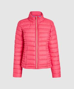 short pink padded jacket