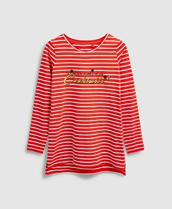 Christmas cocktail striped top