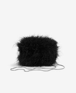 mini feathers bag