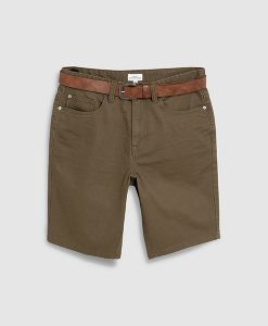 khaki belt chino short