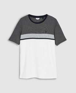 Bloc Grey White Tee
