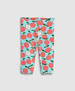 Apple print leggings