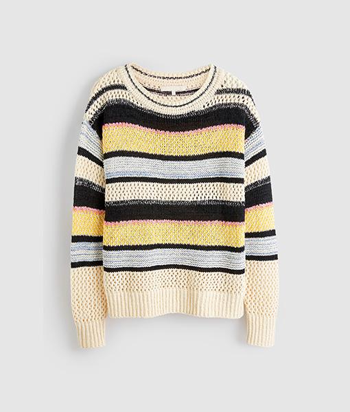 stitch striped jumper