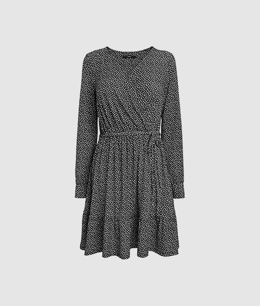 Wrap dot dress