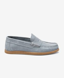 penny grey loafer