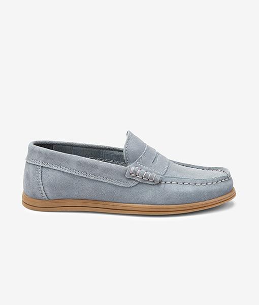penny grey loafer
