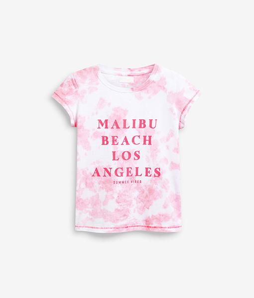 Pink Malibu beach tee