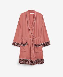 Rose Animal Print Robe