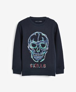 Crew skull embroidered