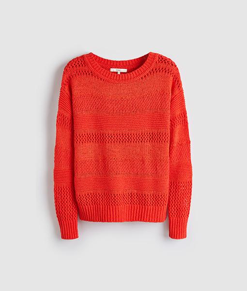 Orange stitch jumper