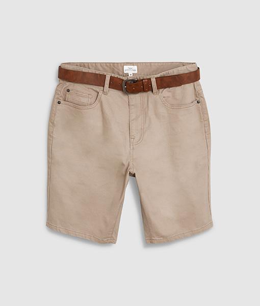 Stone belt chino short