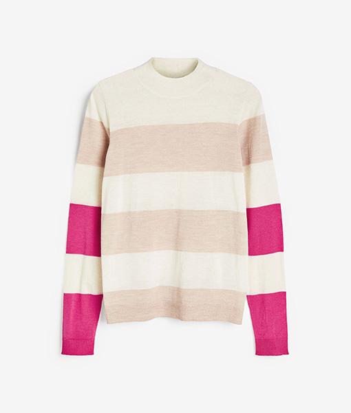 Neon Pink striped jumper