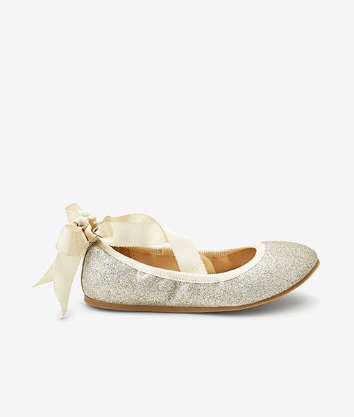 Gold Ballet shoe