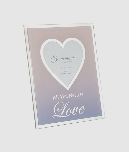 all you need is love photo frame