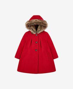 Red Melton coat