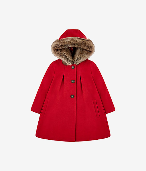Red Melton coat