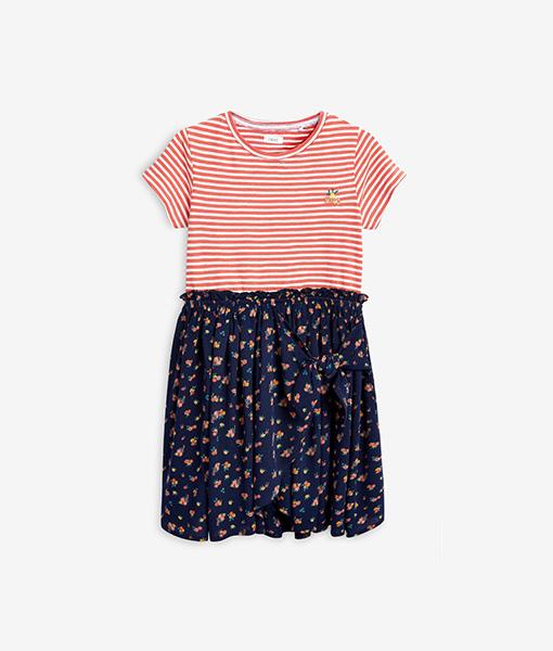 Navy ditsy Dress