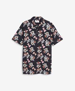 Navy Pink Flower shirt