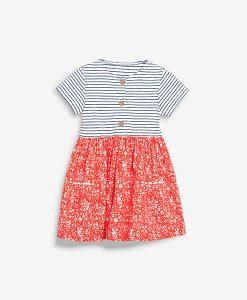 Stripe red ditsy dress