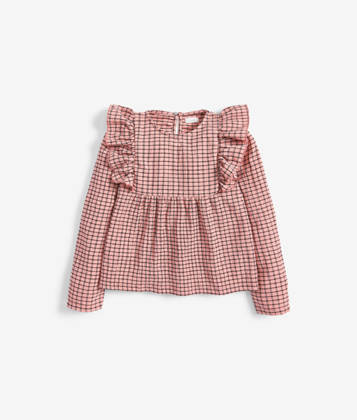 Frill Checked Top