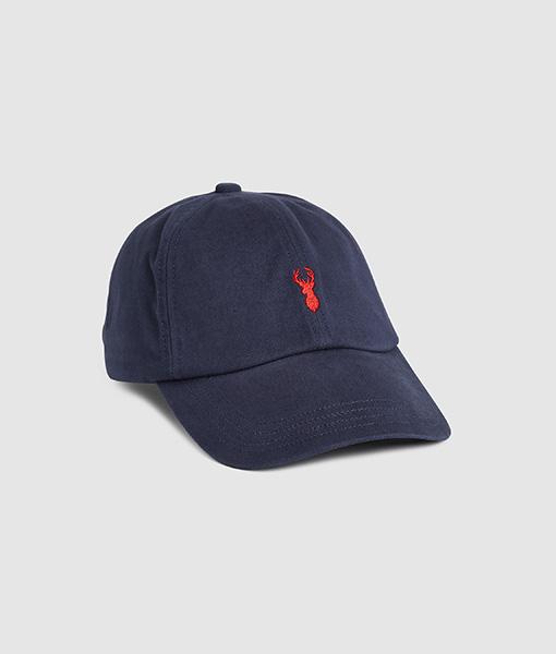 Navy Stag Baseball Cap