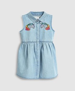 Denim Unicorn Dress