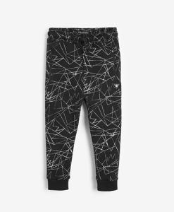 Black Printed Joggers