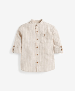 Striped Grandad Shirt