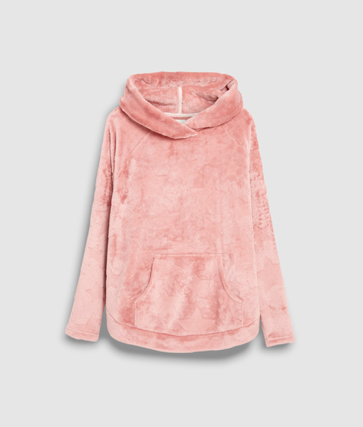 Pink Star Hooded Top