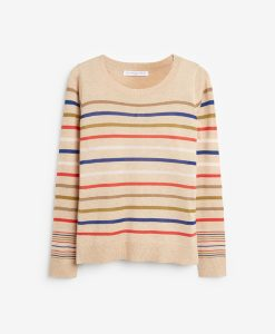 Stripe Camel Jumper