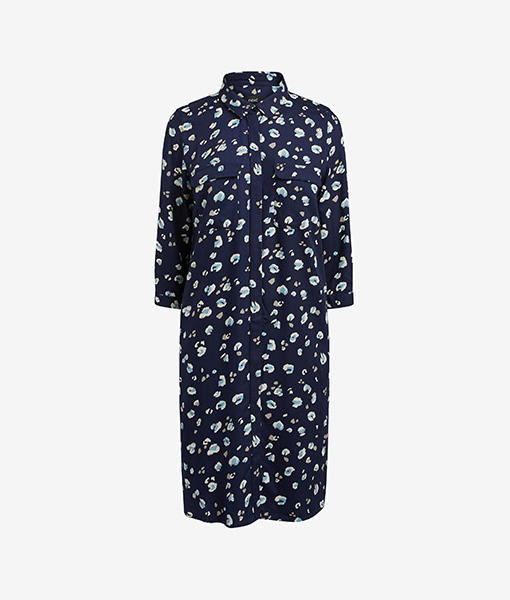 Dress shirt print navy