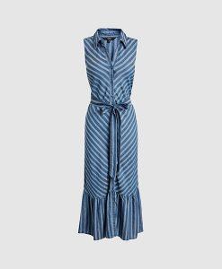 dress shirt navy stripe